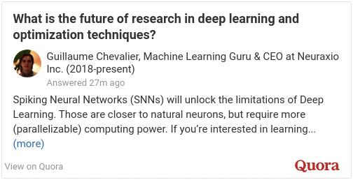 The Future of Deep Learning - Quora Answer